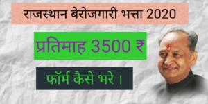 Berojgari Bhatta Rajasthan (2020) | राजस्थान बेरोजगारी भत्ता योजना | ऑनलाइन आवेदन | एप्लीकेशन फॉर्म 2020