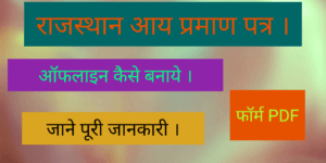 [PDF] Rajasthan Income Certificate Form 2020-21 | Scholarship Income Certificate Form