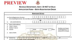 [PDF] Delhi Birth Certificate Application Form PDF Download